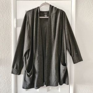 Torrid Active Dark Gray Long Sleeve Hood Cardigan